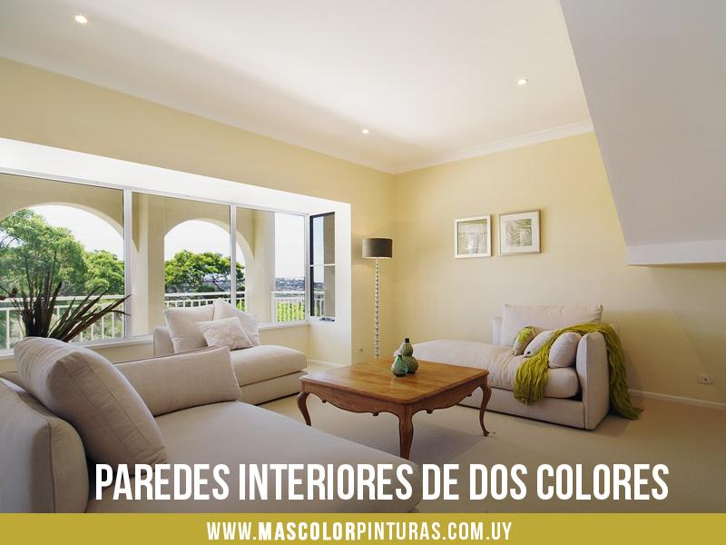 Cómo pintar paredes interiores de dos colores y no morir en el ...