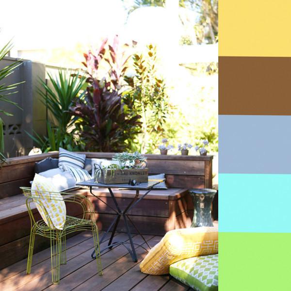 Colores de pintura que no fallan en terrazas y patios - Paredes de patios decoradas ...