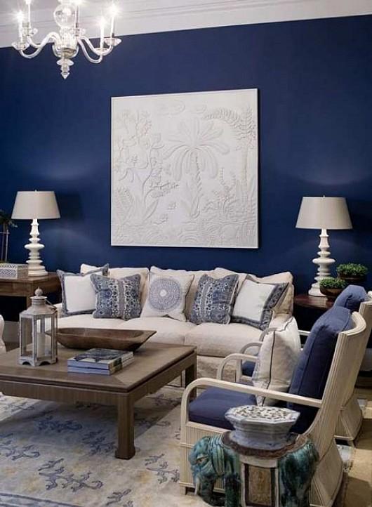 Blue-Wall-Living-Room
